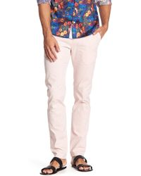 "T.R. Premium Patterned Comfort Fit Casual Pants - 32-34"" Inseam - Pink"