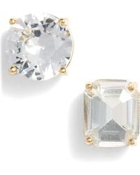 Kate Spade Mismatched Faceted Stud Earrings - Multicolour