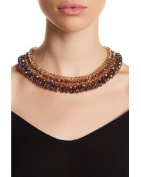 Carolee - Woven Beaded Collar Necklace - Lyst