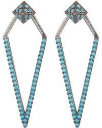 Argento Vivo - Crystal Embellished Kite Drop Jacket Earrings - Lyst