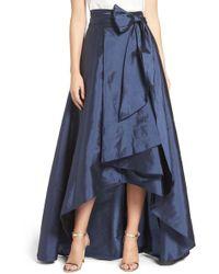 Adrianna Papell - High/low Taffeta Ball Skirt - Lyst