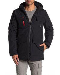 Spyder Hooded Zip Front Parka Jacket - Black