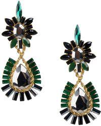 Jardin - Twist Chain Stone Drop Earrings - Lyst