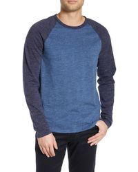 Vince Colorblock Long Sleeve T-shirt - Blue