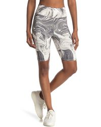 Threads For Thought Devi Marble Biker Shorts - Gray