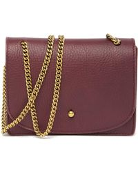 d9f852cad Christian Siriano Diane Micro Mini Ostrich Embossed Shoulder Bag in Yellow  - Lyst