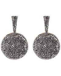 Panacea Luxe Circle Drop Earrings - Black