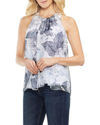 Vince Camuto - Island Floral Sleeveless Chiffon Top - Lyst
