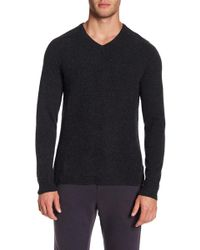 Velvet By Graham & Spencer - Cashmere Long Sleeve V-neck Tee - Lyst