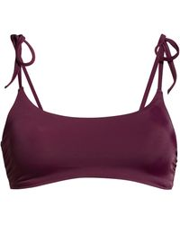 Chelsea28 Easy Retro Tie Strap Bikini Top - Purple