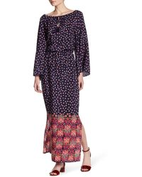 Juicy Couture | Silk Fabel Floral Maxi Dress | Lyst