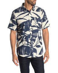 Quiksilver Steel Breeze Short Sleeve Hawaiian Shirt - Blue