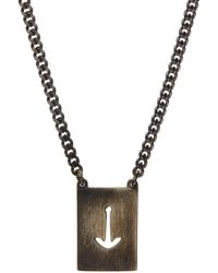 Miansai | Sterling Silver Anchor Cutout Necklace | Lyst