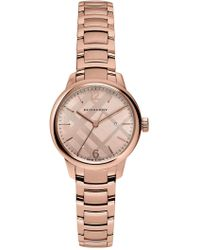 Burberry - Women's The Classic Round Swiss Quartz Bracelet Watch, 32mm - Lyst