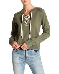 Sincerely Jules - Kaia Front Lace-up Sweatshirt - Lyst