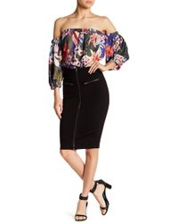 Romeo and Juliet Couture - Zip Accent Skirt - Lyst
