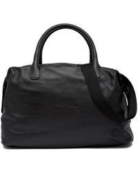 Giorgio Armani Armani Leather Weekend Bag - Black