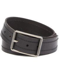 Frye - Panel Stitch Leather Belt - Lyst