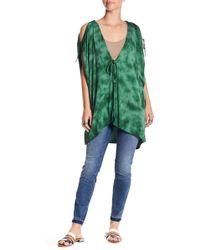 Green Dragon - Tie-dye Cold Shoulder Kaftan - Lyst