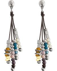 Uno De 50 - Play Ball Multi-stranded Bead Stacked Dangling Stud Earrings - Lyst