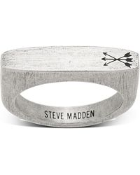 Steve Madden - Arrow Design Flat Bar Matte Ring - Size 10 - Lyst