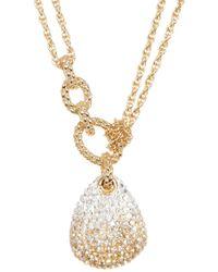 Swarovski - Crystal Pave Pendant Layered Necklace - Lyst