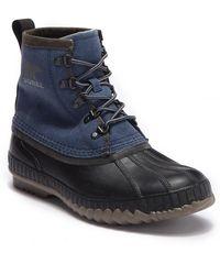 Sorel - Cheyanne Ii Short Canvas (black) Men's Waterproof Boots - Lyst
