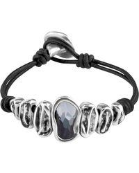 Uno De 50 - Scales Swarovski Crystal Accented Leather Bracelet - Lyst