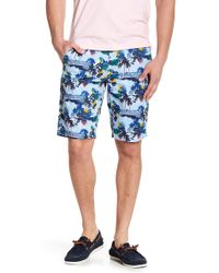 Knowledge Cotton Apparel - Palm Print Shorts - Lyst