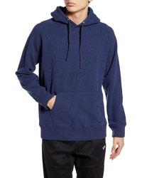 Saturdays NYC Ditch Wool Blend Hooded Sweatshirt - Blue