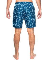 Con.struct Palm Tree Print Drawstring Swimming Trunks - Blue