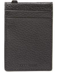 Cole Haan Leather Flap Magnetic Money Clip - Black