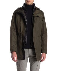 BOSS by Hugo Boss Three-in-one Water-repellent Parka With Taped Seams - Green
