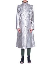 Akris Punto Techno Coat With Detachable Sleeves - Metallic