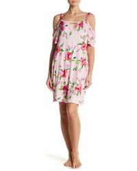 Curvy Couture Secret Garden Late Bloomer Night Gown - Pink