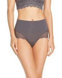 Spanx Undie-tectable Lace Hi-hipster Panties - Grey