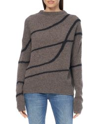360cashmere Valerie Printed Knit Sweater - Gray