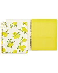 Kate Spade - Lemon Spiral Notebook - Lyst