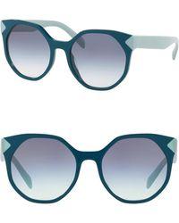 a6b4b623e8 Lyst - Prada Women s Cat Eye Acetate Frame Sunglasses