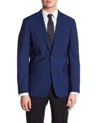 Brooks Brothers - Solid Blue Two Button Wool Sport Coat - Lyst