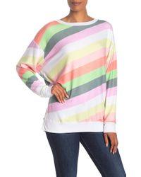 Wildfox - Sorbet Stripe Road Trip Sweater - Lyst