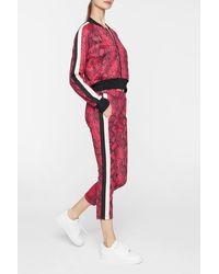 Pam & Gela Baby Boa Crop Track Pants - Red