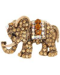 Tasha Crystal Small Elephant Pin - Metallic