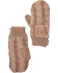 Muk Luks Braided Cable Mittens - Multicolour