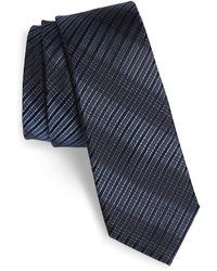 Calibrate Aurora Plaid Silk Tie - Blue