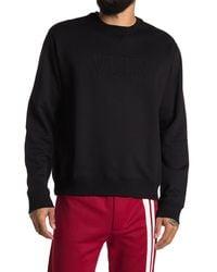 Valentino Crew Neck Long Sleeve Sweatshirt - Black