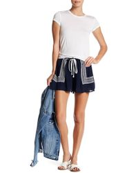 Romeo and Juliet Couture - Embroidered Gauze Shorts - Lyst