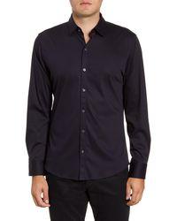Zachary Prell Lam Regular Fit Button-up Sport Shirt - Blue