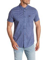 RVCA - Speckles Short Sleeve Trim Fit Shirt - Lyst