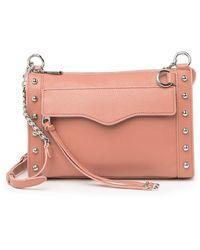Rebecca Minkoff Mab Leather Studded Crossbody - Pink